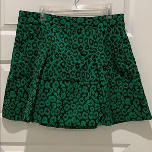 Like new! Worn once! Emerald green leopard mini!